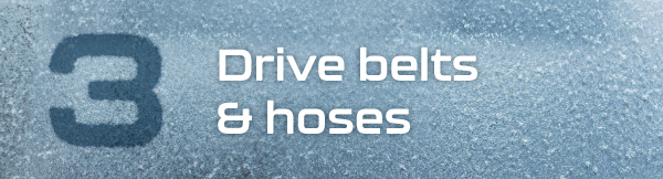 3. Drive belts and hoses