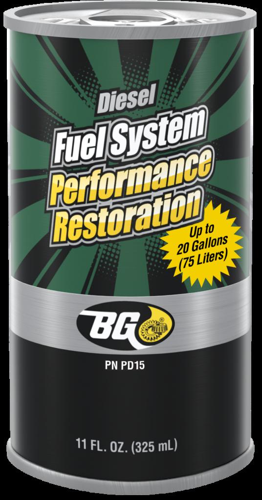 Diesel fuel system performance restoration for light duty