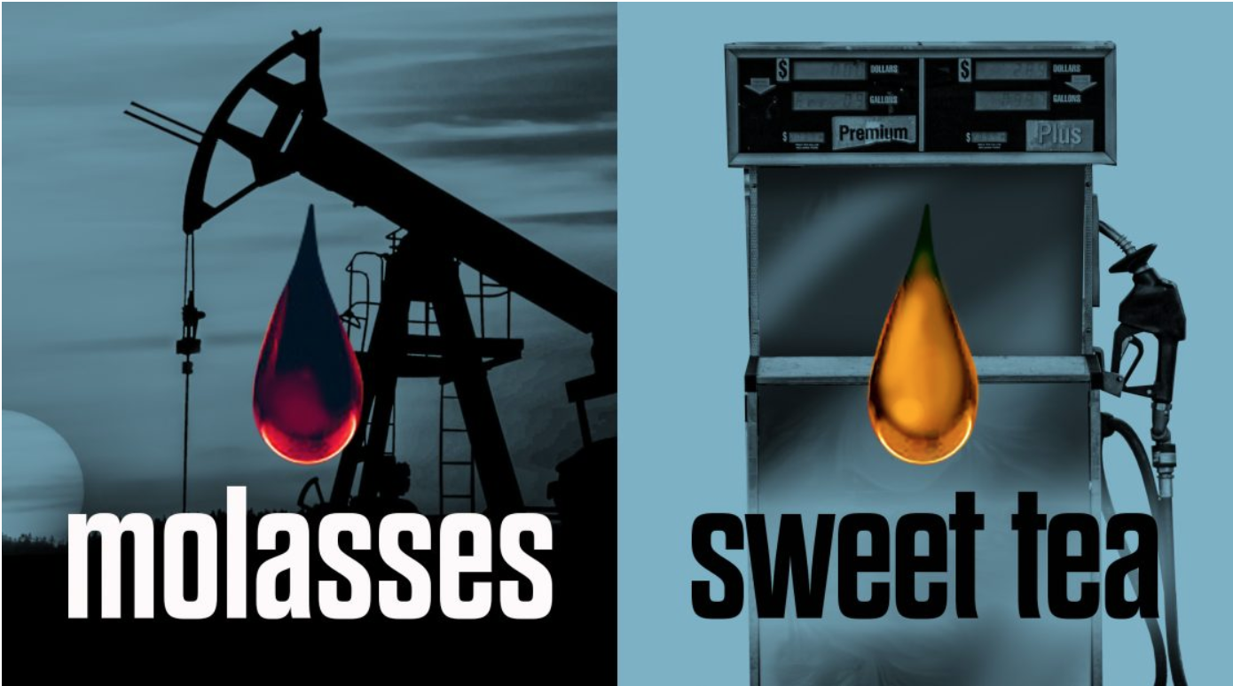oil and gasoline deposits are like molasses and sweet tea