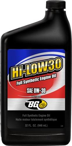 BG 73032 | BG Hi-L0W30 Full Synthetic Engine Oil