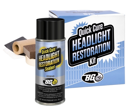 BG 876 | BG Quick Cure® Headlight Restoration Kit