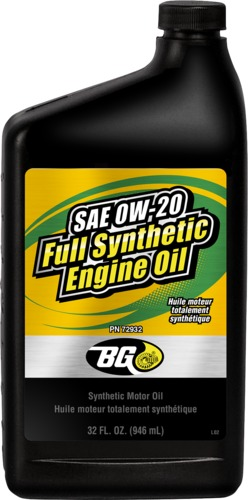 BG 72932 | BG SAE 0W-20 Full Synthetic Engine Oil