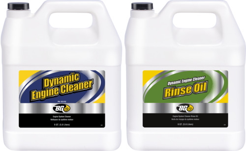 BG 103 and PE04 | BG Dynamic Engine Cleaner & Rinse Oil